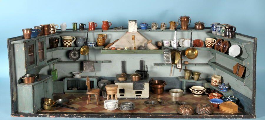 allg uer auktionshaus 1596 puppenk che alte puppenk chen und zubeh r pinterest. Black Bedroom Furniture Sets. Home Design Ideas