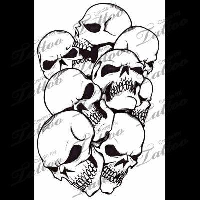 Marketplace Tattoo Pile Of Skulls 272 Createmytattoo Com Skull Stencil Skulls Drawing Skull Tattoo Design