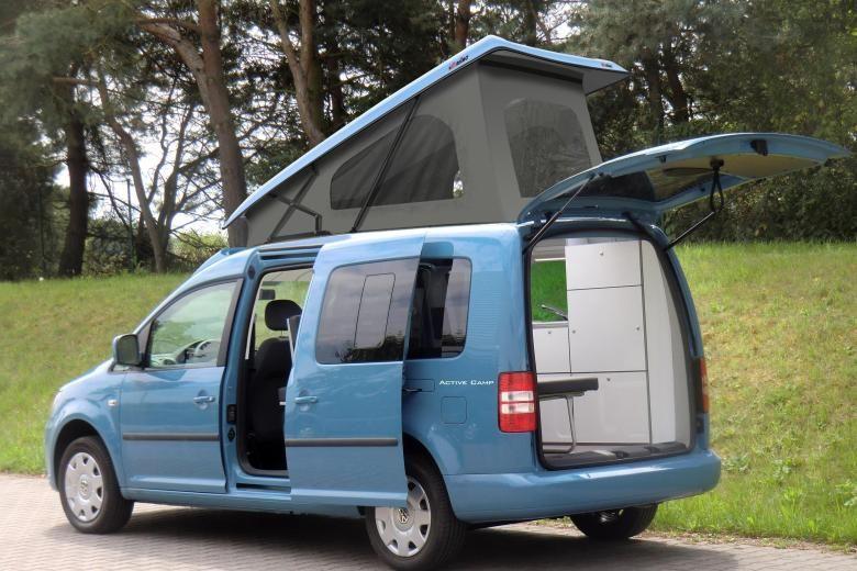 hochdach mit faltdach ein vw caddy als camper alternative. Black Bedroom Furniture Sets. Home Design Ideas