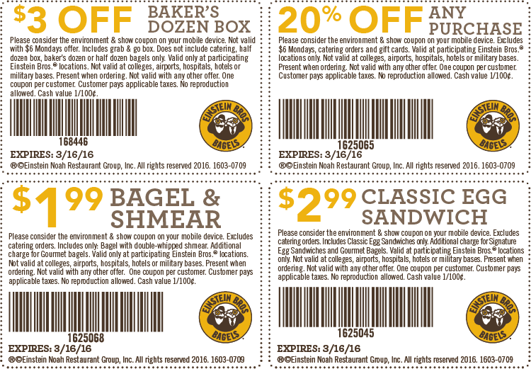 How to use a Einstein Bros coupon
