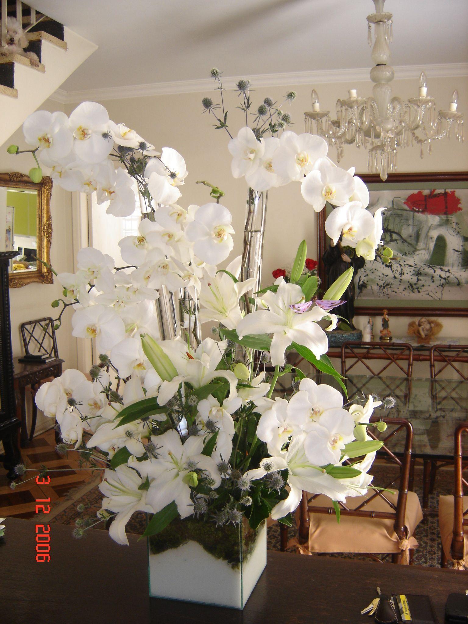 Belissimo Arranjo De Flores Brancas Arranjos De Flores