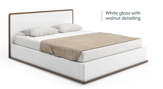 Best Baltoro High Gloss Hydraulic Storage White Bed White 640 x 480