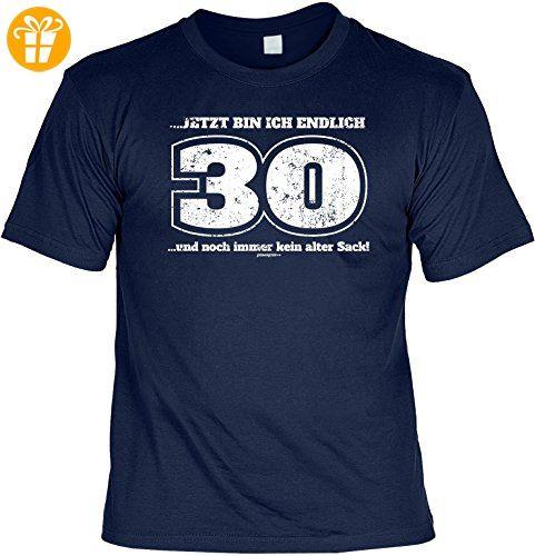Cooles T-Shirt zum 30. Geburtstag - jetzt bin ich endlich 30 und noch immer  kein alter Sack! Geschenk zum 30. Geburtstag 30: Amazon.de: Bekleidung
