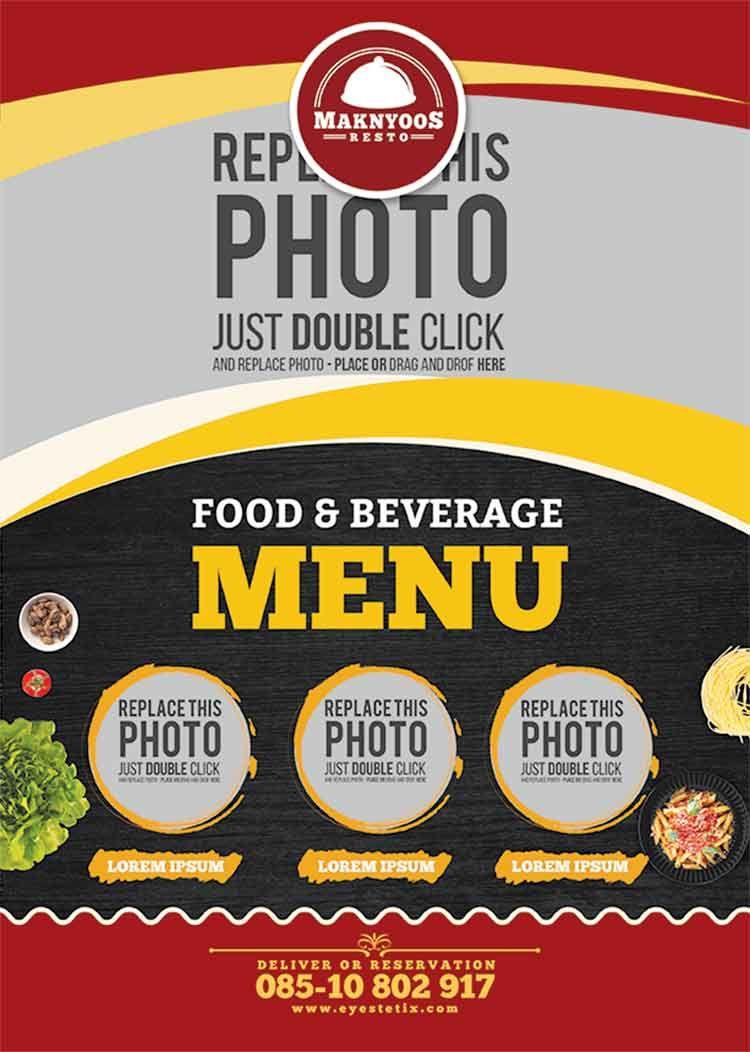 تحميل Flyer Cover Psd مجانا Lorem Ipsum Food Creative Flyers