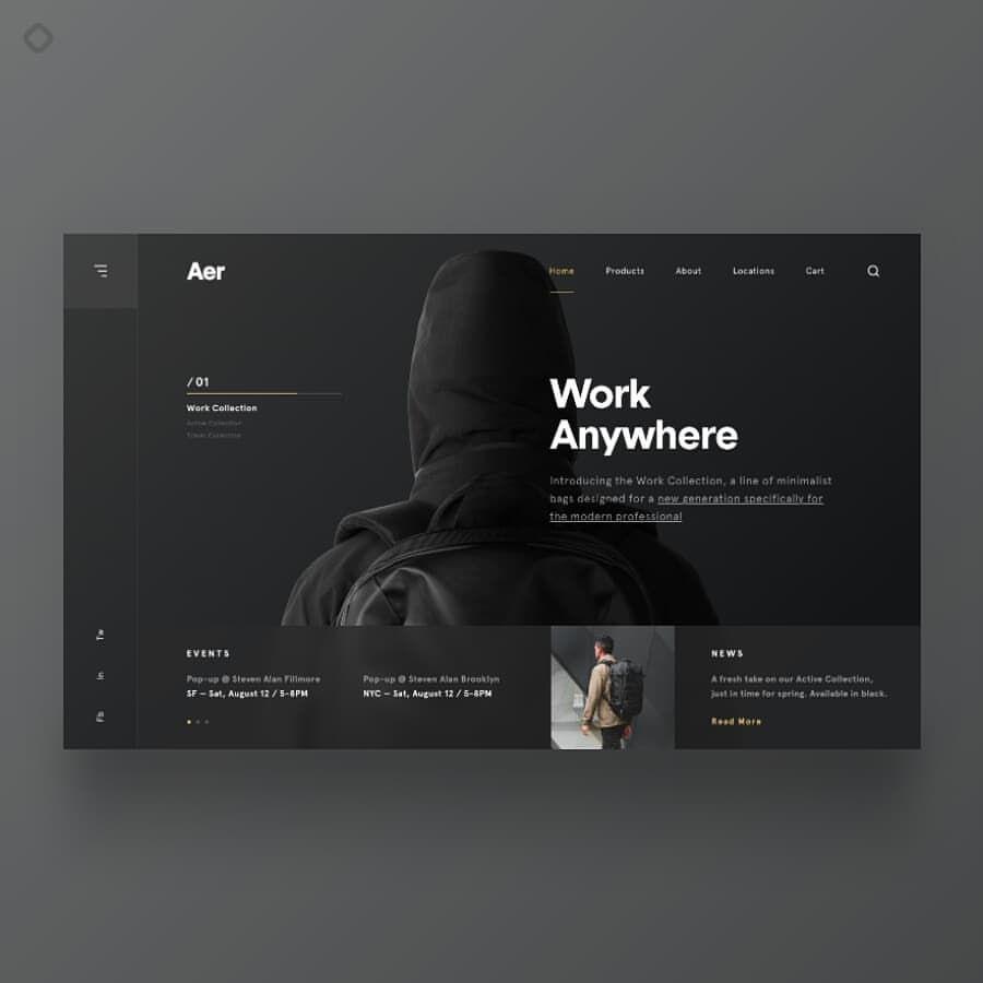 Designed By Daniel Klopper Betraydan Link Https Dribbble Com Shots 4391034 Want To Get Featured Web Design Web Design Inspiration Web Graphic Design