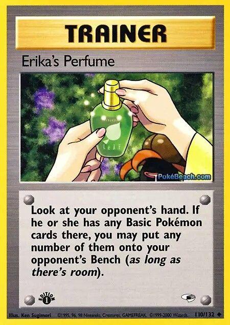 Erika's perfume Old pokemon cards, Pokemon cards, Pokemon