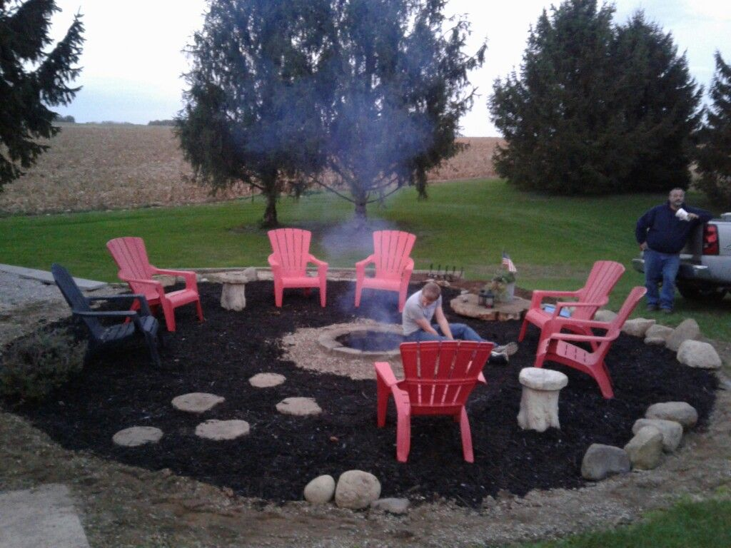 Took down the pool and made a huge fire pit area added for Gravel fire pit area
