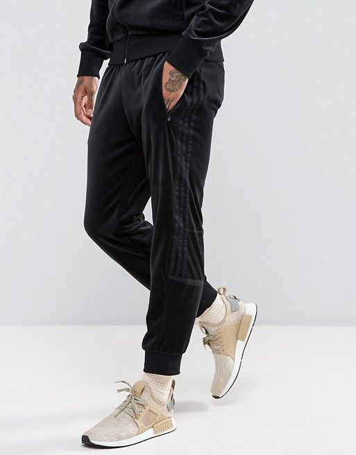 adidas Originals Challenger Velour Track Jogger In Black BR2167