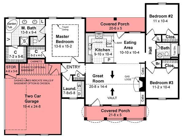 1500 Sq Ft House Plan Chp 25032 At COOLhouseplans.com