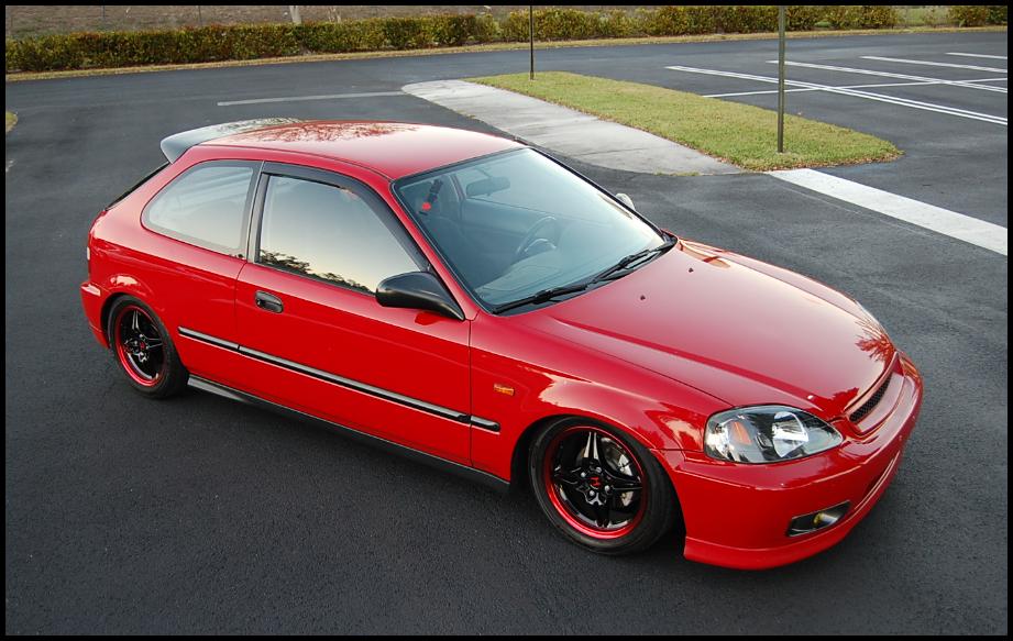 My 1999 Milano Red Honda Civic Hatchback Honda Civic Hatchback Civic Hatchback 1999 Honda Civic