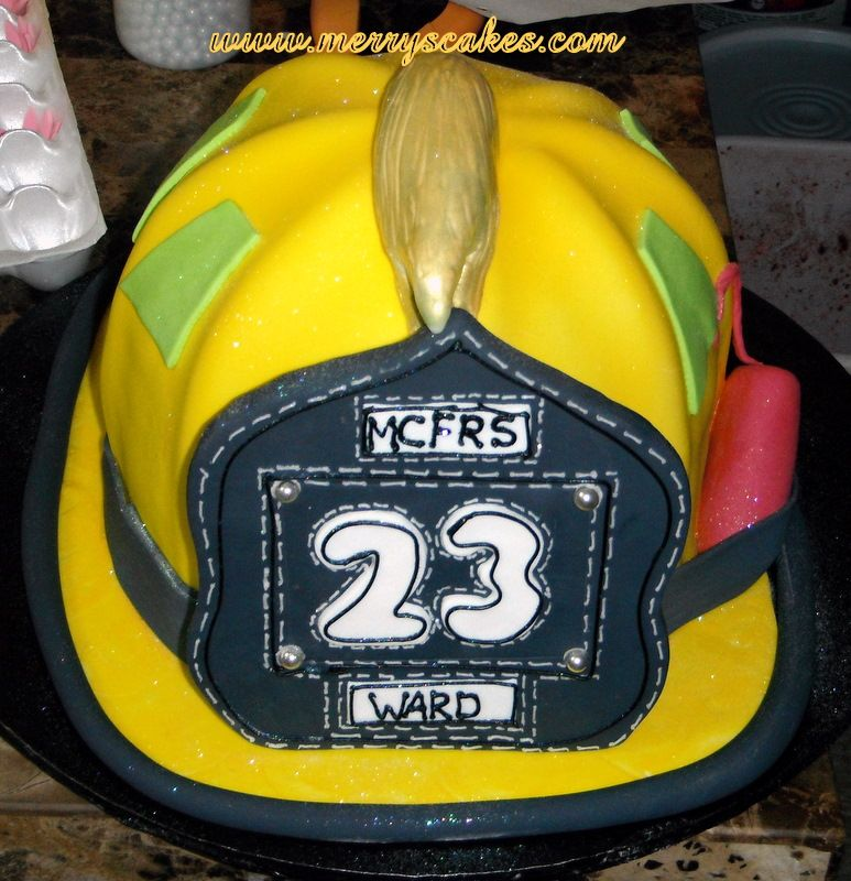 Fire Helmet Cake Www Merryscakes Com Custom Cakes