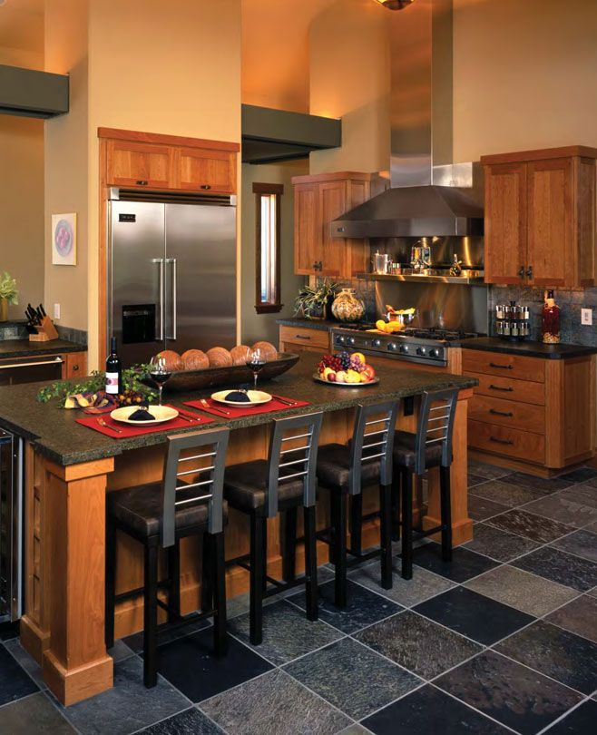 Gorgeous Shaker Cherry-wood Cabinets With Indirect