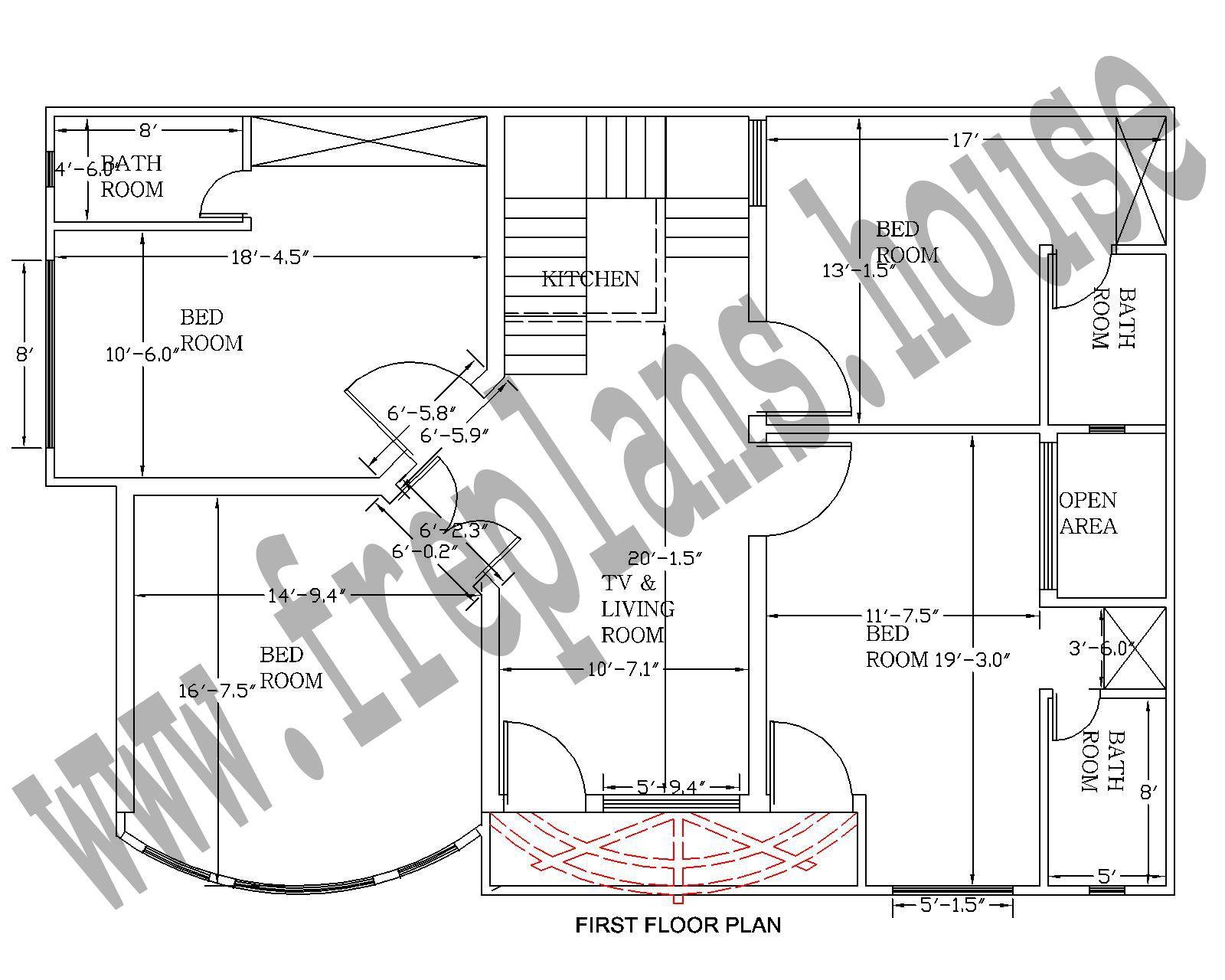 18x36 feet ground floor plan plans pinterest house square
