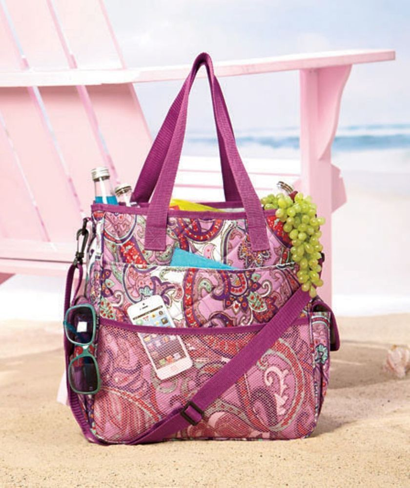Purple quilted insulated tote bag cooler beach pool picnics park sports  imported jpg 840x1000 Beach picnic 4271e553ef761