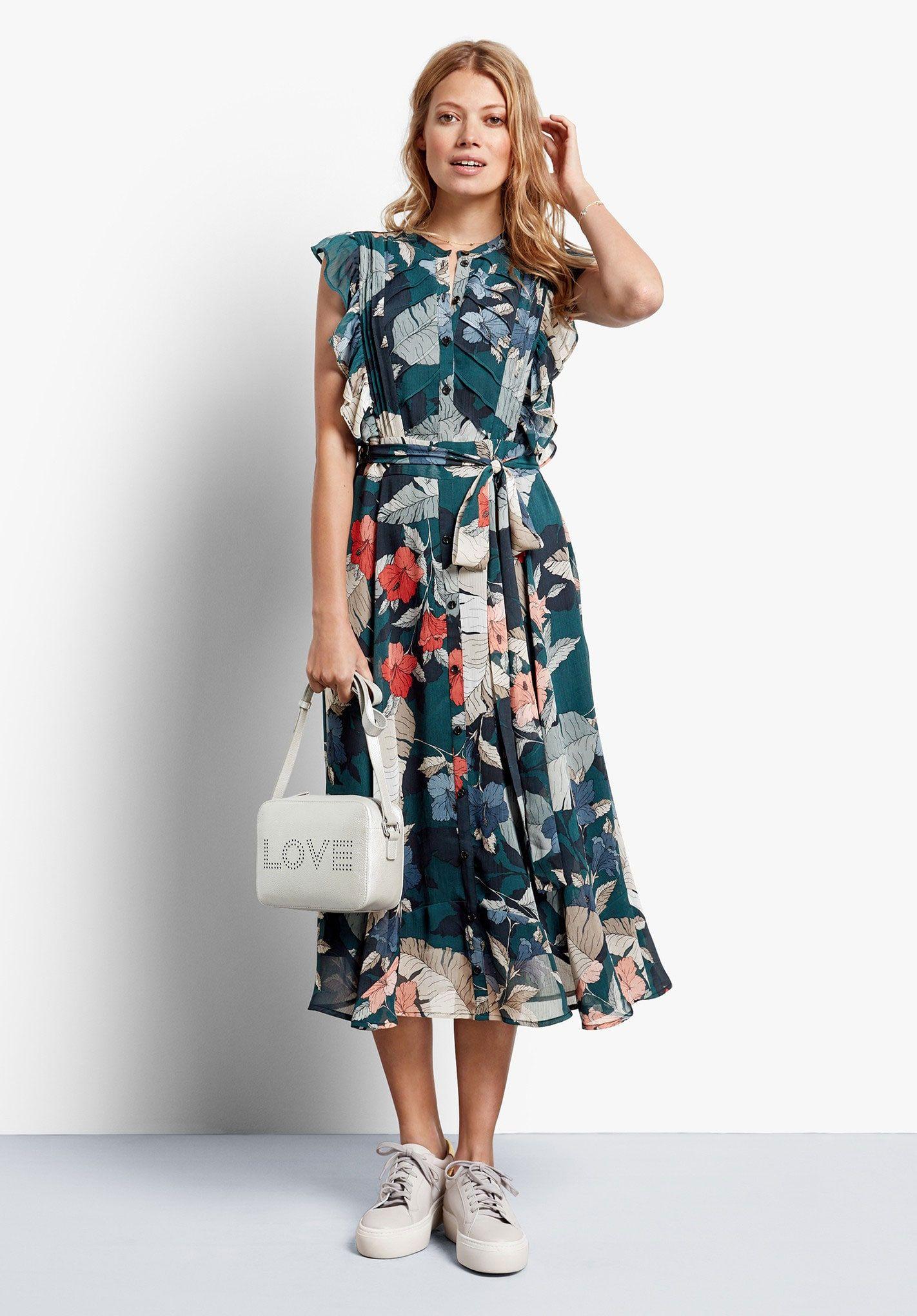 Elspeth Ruffle Dress Hush Dresses Midi Dress Summer Hush Clothing [ 2040 x 1422 Pixel ]