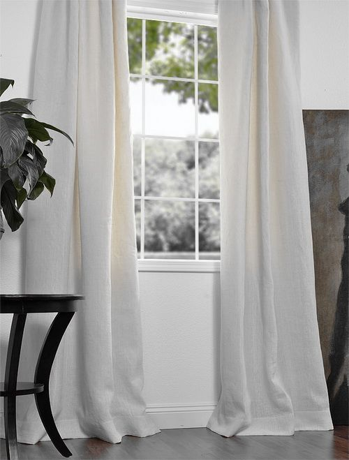 Blanc White French Linen Curtain Amenagement Interieur Rideaux Deco