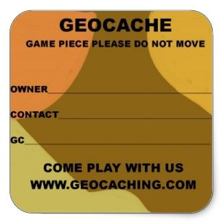 Large Geocache Lable Stickers Geocaching Geocaching Containers