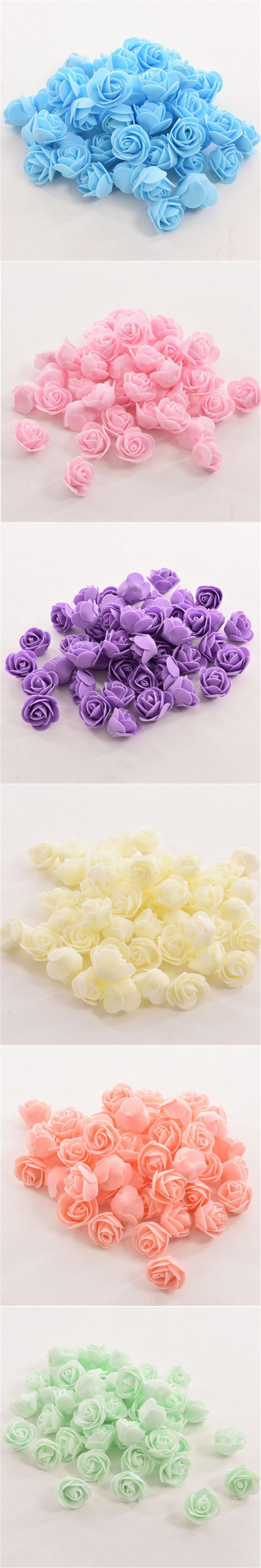 Home decor artificial flowers  PCS Artificial Flower Head Handmade DIY Wedding Home Decoration