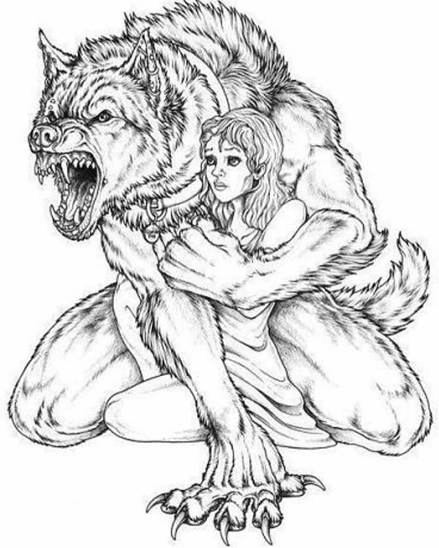 Protect What You Love Its Gymtime Sketches Werewolf Art
