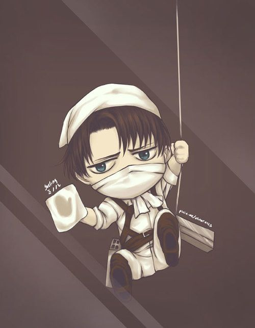 Chibi Levi Cleans Your Screen Attack On Titan Anime Anime Attack On Titan Levi