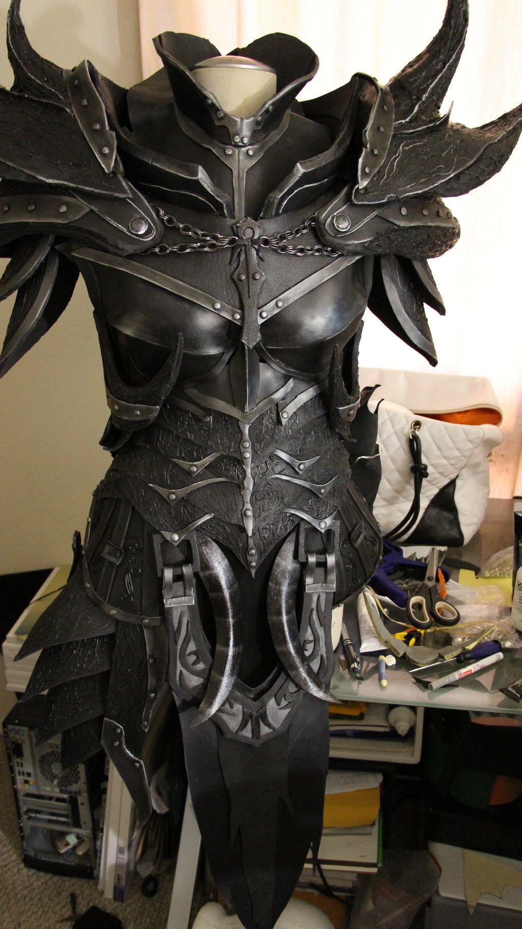 Skyrim Daedric Armor WIP by lsomething.deviantart.com on @DeviantArt
