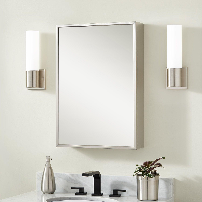 Echo Reversible Stainless Steel Medicine Cabinet Signature Hardware Bathroom Medicine Cabinet With Mirror Bathroom Medicine Cabinet