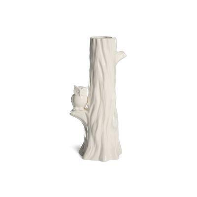 Vase Baumstamm Porzellan weiß ca H:21 cm