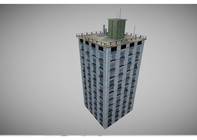 Low Poly City Buidling 3d Model 3d Model Low Poly Model