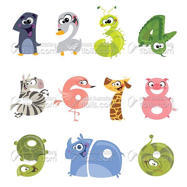 Numeros Del 10 Al 20 Con Forma De Animalitos Buscar Con Google Animal Com Letra N Animais Letra N