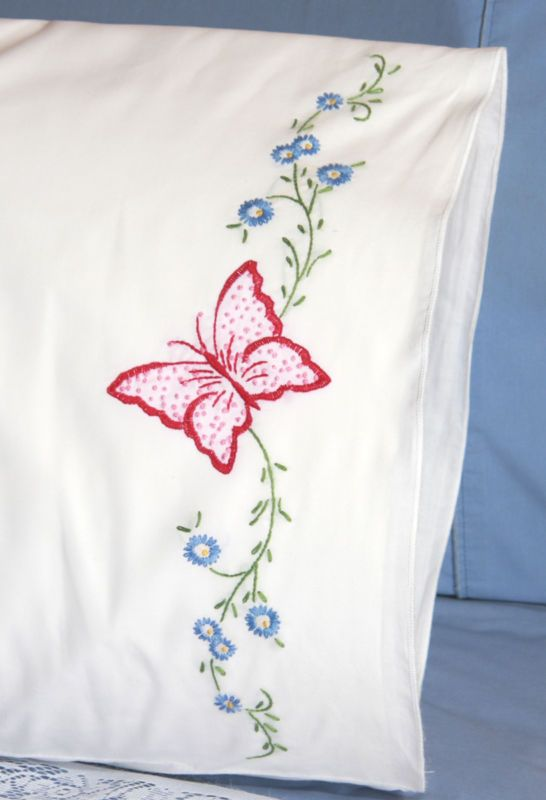 Stamped Perle Edge Pillowcases 30\
