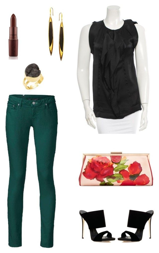 """""""My outfit 9/10/15"""" by girlwithredshoes on Polyvore featuring The North Face, Diane Von Furstenberg, Panacea, Lana, Patricia Nash and Giuseppe Zanotti"""