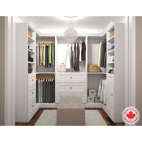 Closet Ideas Small Decorating: How To Design A Walk In U-shape Storage Closet