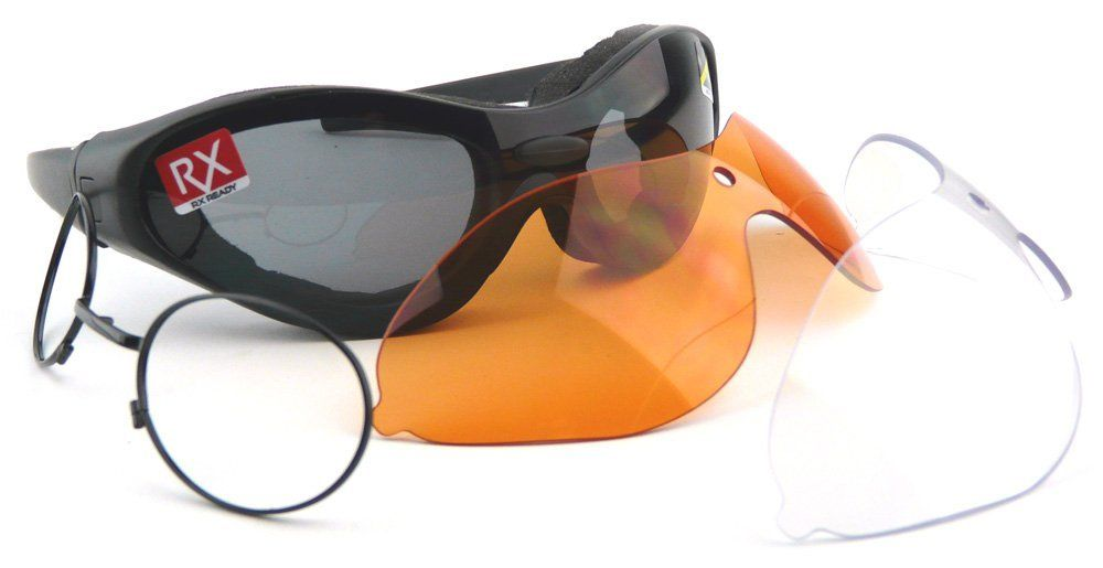 975f3650ef2 Bobster Spektrax Motorcycle Goggles Sunglasses - Interchangeable Lenses   Amazon.co.uk