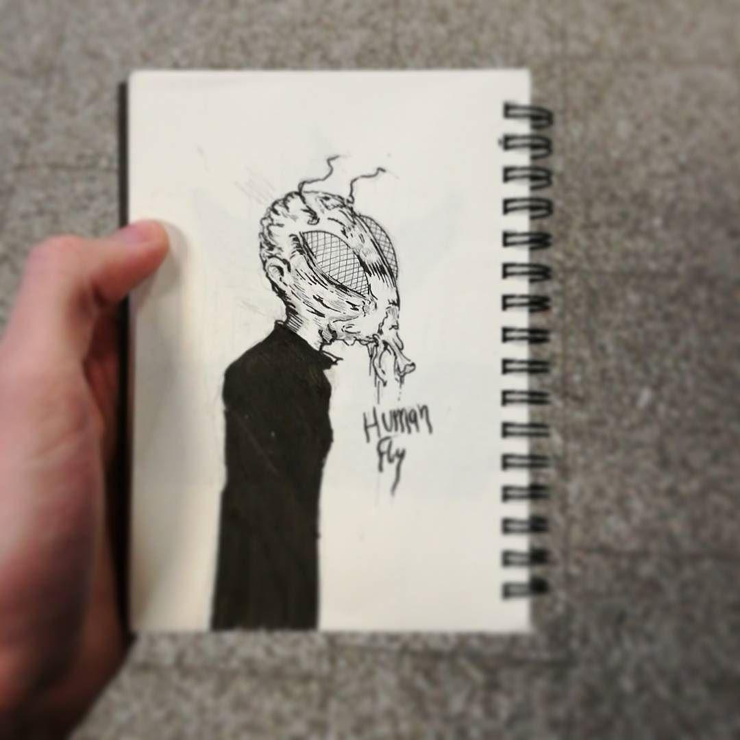 Another quick one for the days I've missed - #humanfly  Also 400 subscribers (yay) . #mabsdrawlloweenclub #robisraeldrawlloween #seasonofthebadguysclub2 #inktober #lifeformdrawingclub #lifeformdrawing #lowbrowwolfpack #lowbrowart #popsurrealism #illustration #art #ink #design #hamburgart #blackworknow #sketchbook #drawloween #sicksoulssocialclub #fly #insect