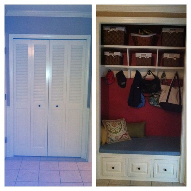 Closet Turned To Locker/bench