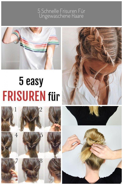 Hast Du Deine Haare Gewaschen Nein Dann Bleib Dran Und Finde Die Perfekte Frisur Fur Deine Haare Schnelle Frisuren 5 Schnelle Frisur In 2020 Beauty Hair Hair Styles