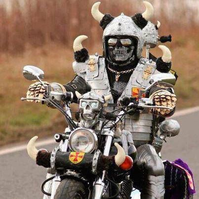 """People always tell me I must be crazy to ride a motorcycle. I just say """"Yes, I am."""""""