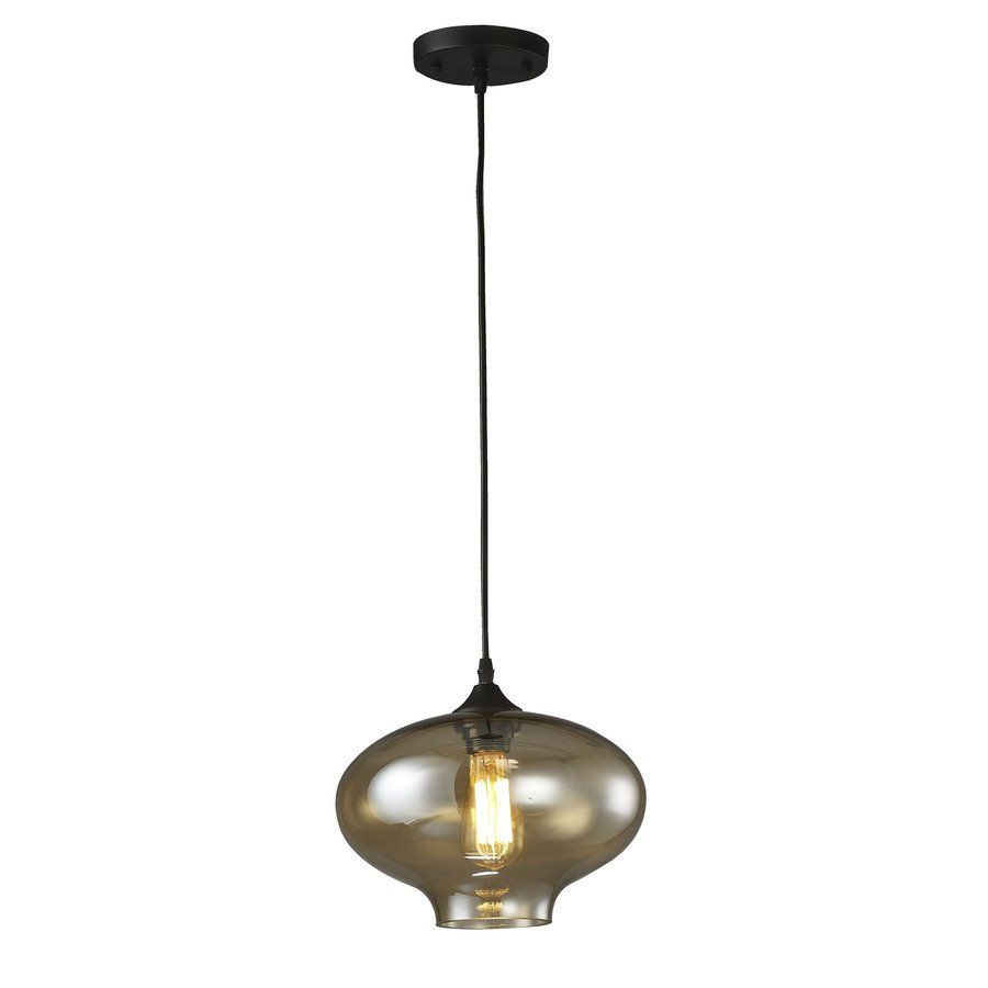 Source Lighting 1 Light Smoked Gl Pendant Chandelier At