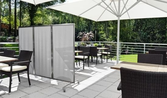 Kunststoff Terrasse Ideen Garten Balkon Windschutz