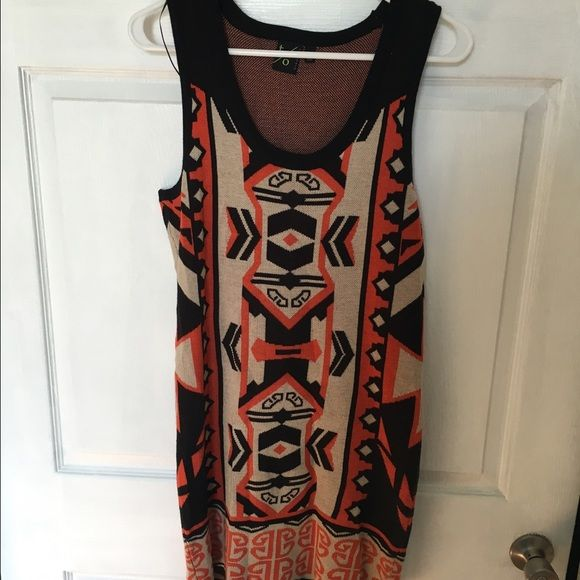 Tribal sweater dress Tribal print sweater dress. Worn once! Was perfect with a blazer and boots Dresses