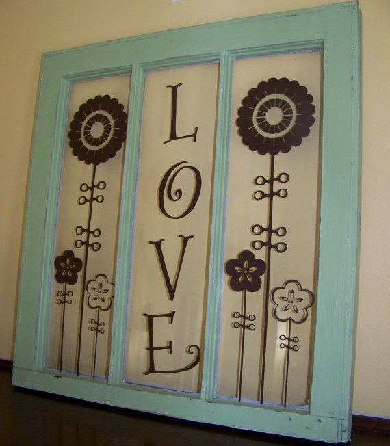 Pin By Laurie Teague On Cute And Interesting Ideas Window Crafts Old Window Crafts Glass Crafts Diy