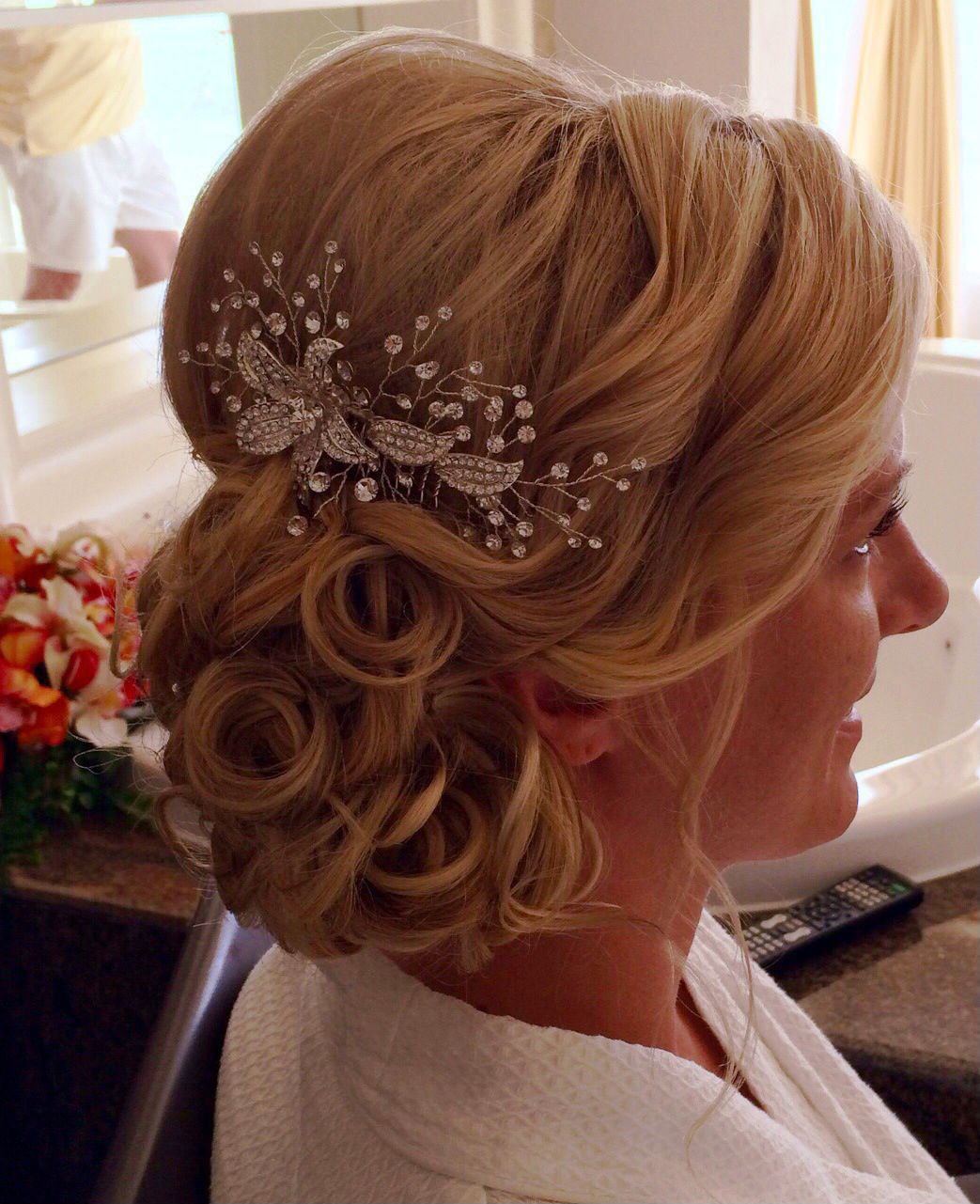 wedding hair elegant messy side bun updo | my destination