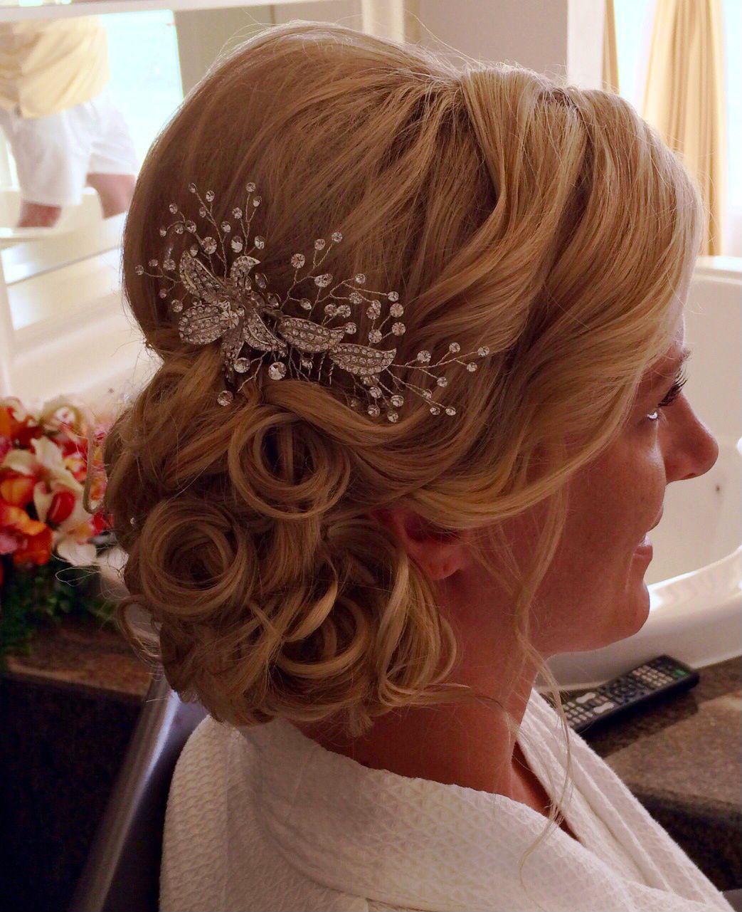 wedding hair elegant messy side bun updo | my destination