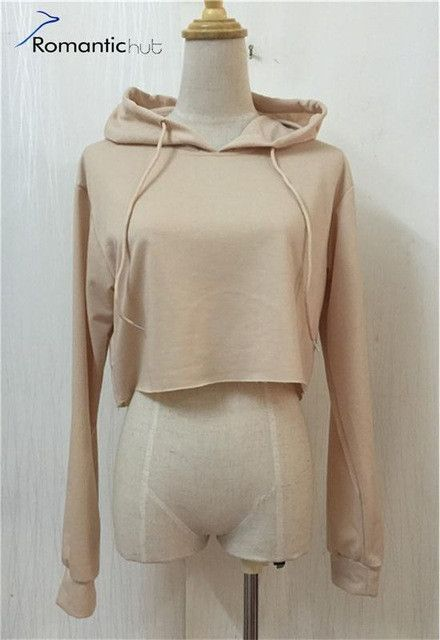 Romantichut Casual Cropped Hoodies Pullovers Female Sweatshirt Winter Sexy Grey Short Crop Hoodie for Women Tracksuit Plus Size