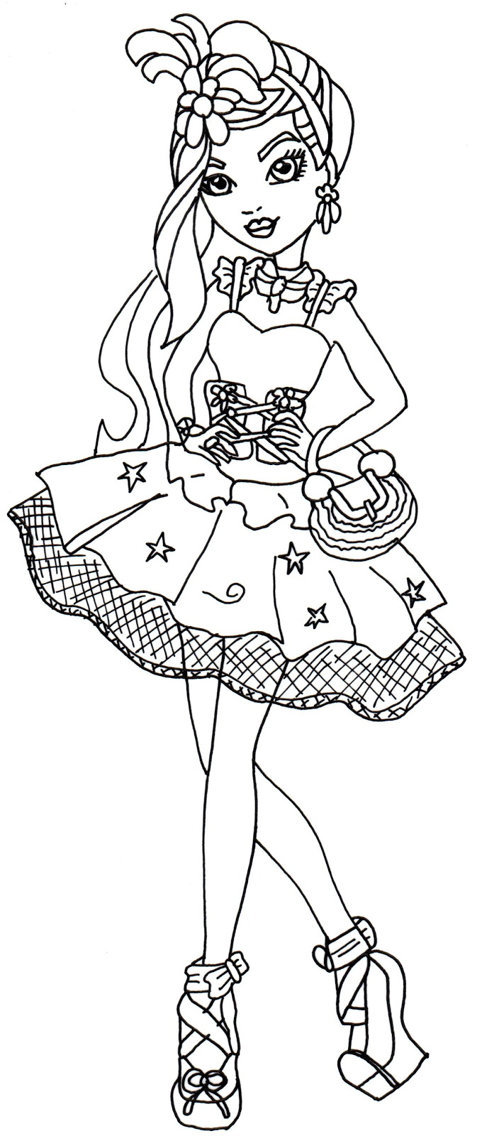 Poppy Coloring Page Duchess Swan Ever After High Coloring Page
