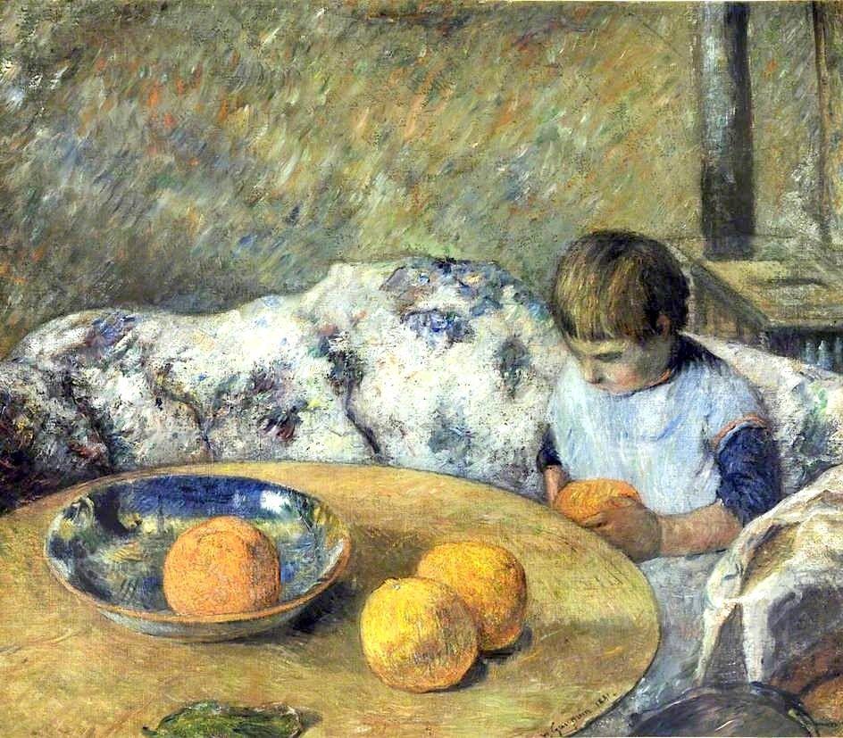 bofransson:    Intérieur avec Aline Gauguin by Paul Gauguin