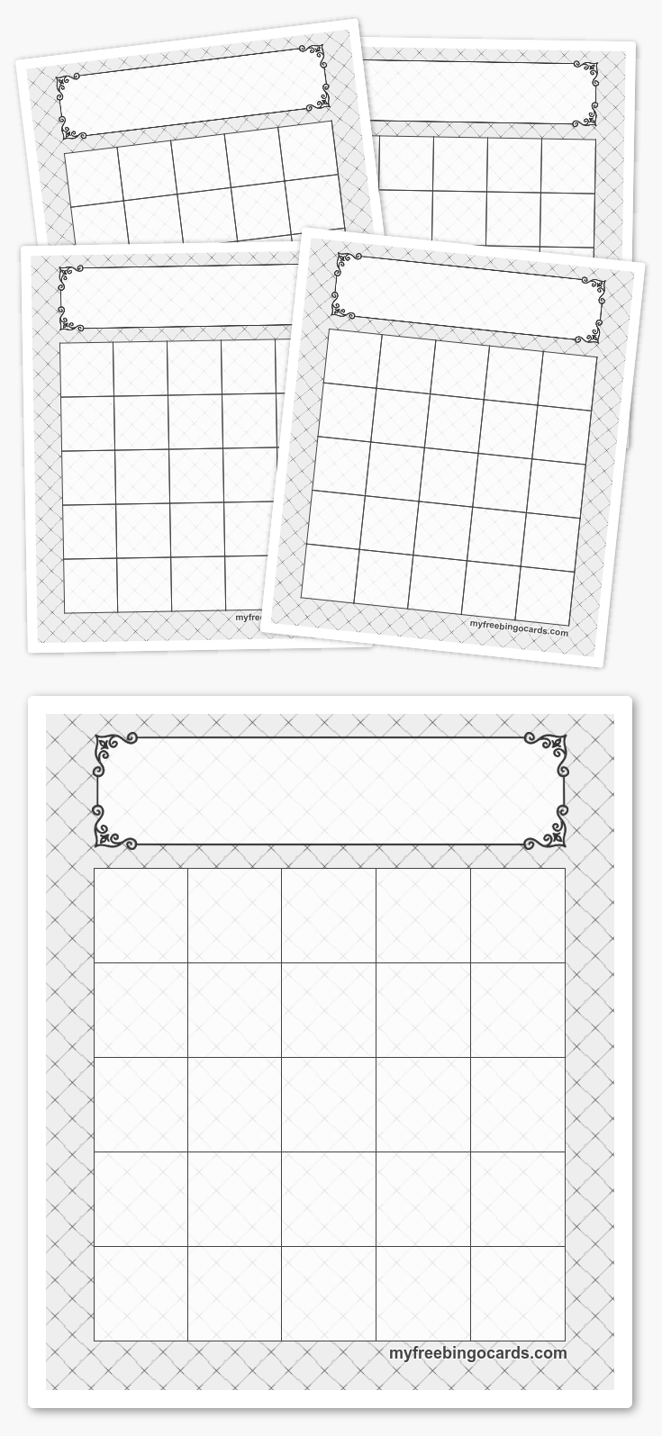 5x5 bingo templates cards