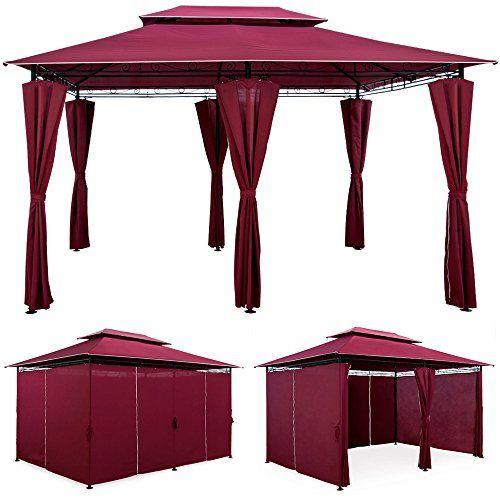 gartenzelt pavillon festzelt 4x3m partyzelt garten pavillion zelt gartenpavillon rot deuba http www gebraucht kaufen