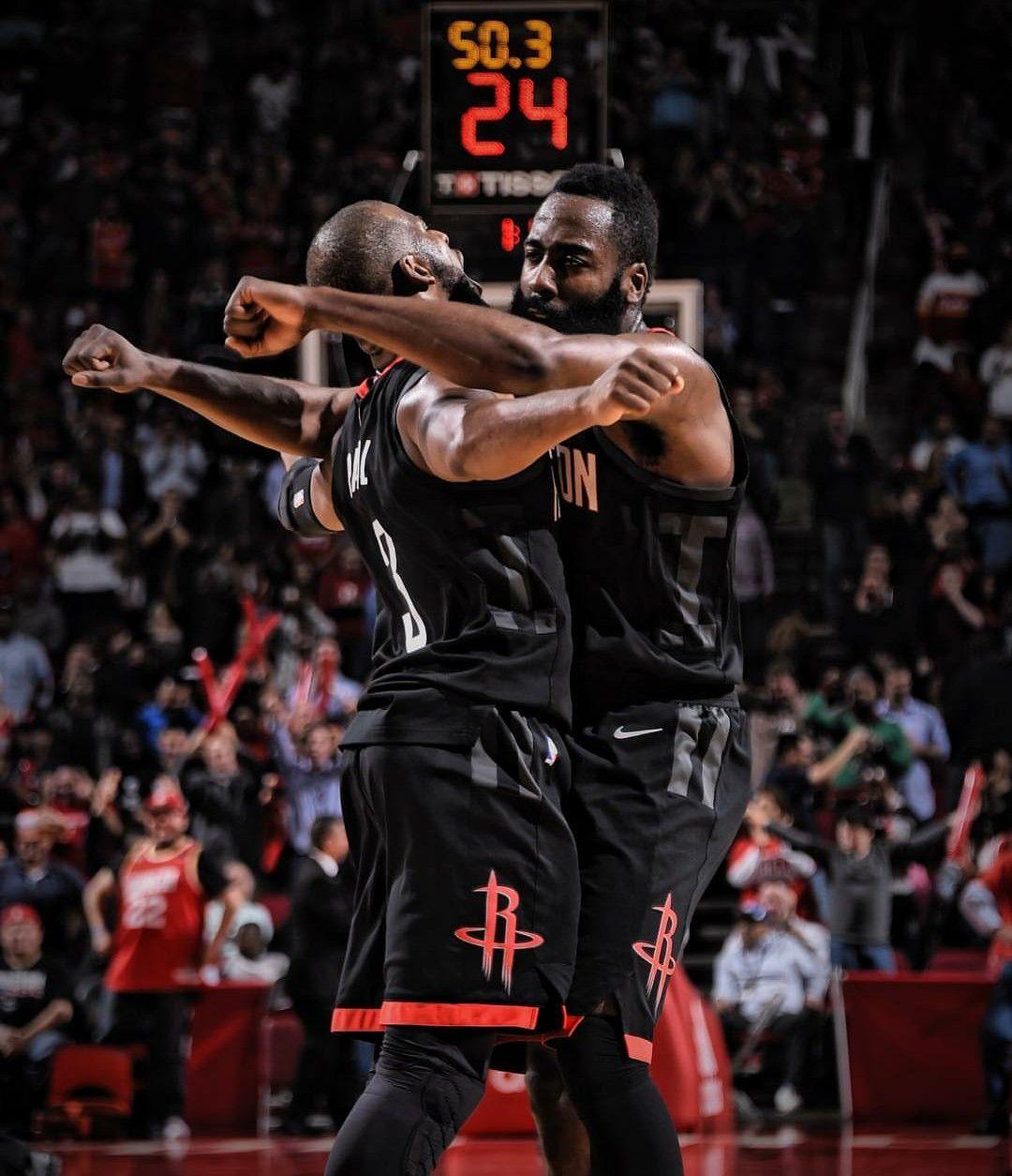 Chris Paul And James Harden Houston Rockets Chris Paul Houston Rockets Rockets Basketball