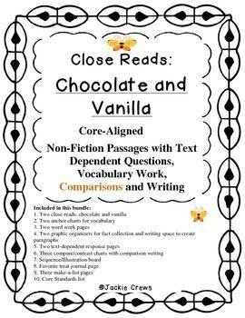 Close Reads: Chocolate & Vanilla Non-Fiction w/ Text